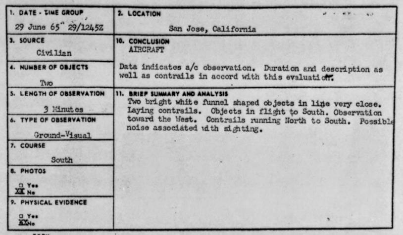 Il progetto Blue Book studiava i casi di UFO