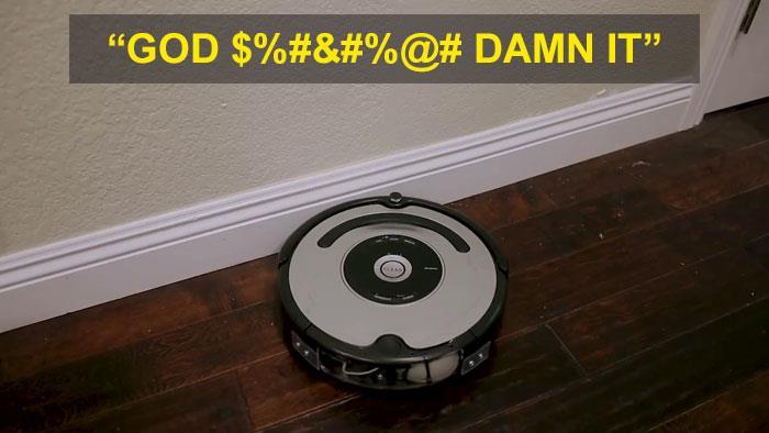 Il Roomba che impreca