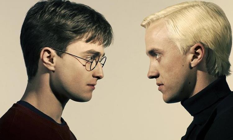 Immagini promozionali di Harry Potter e Draco Malfoy