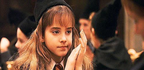 Emma Watson in una scena del primo Harry Potter