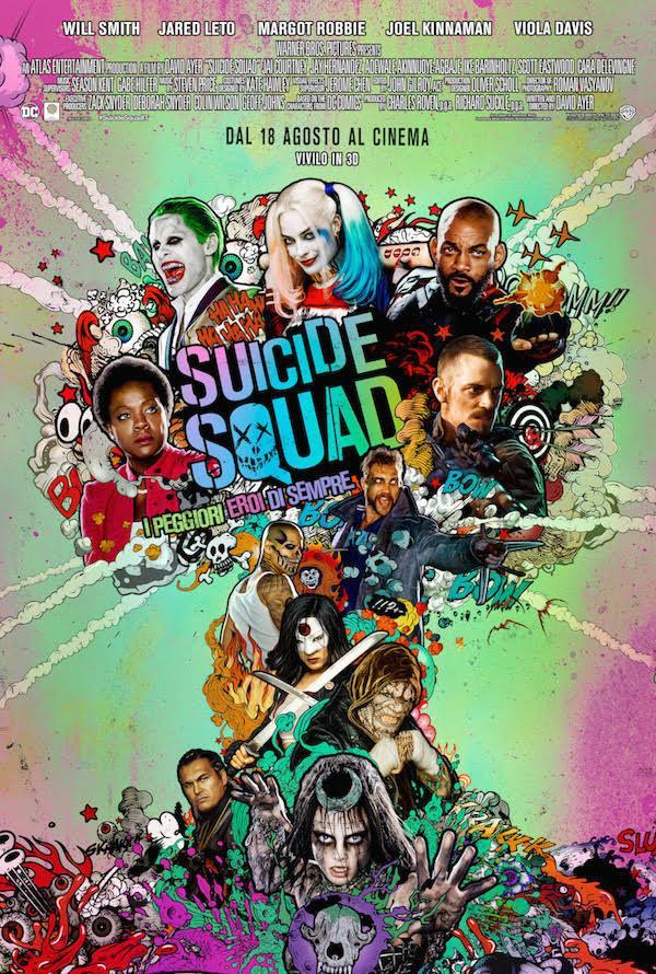 La Suicide Squad nel coloratissimo poster ufficiale italiano