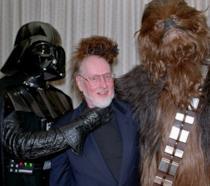 John Williams con Dart Vader e Chewbecca