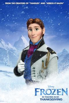Hans nel character poster di Frozen
