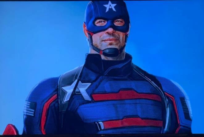U.S. Agent a mezzo busto, così come appare nei fumetti