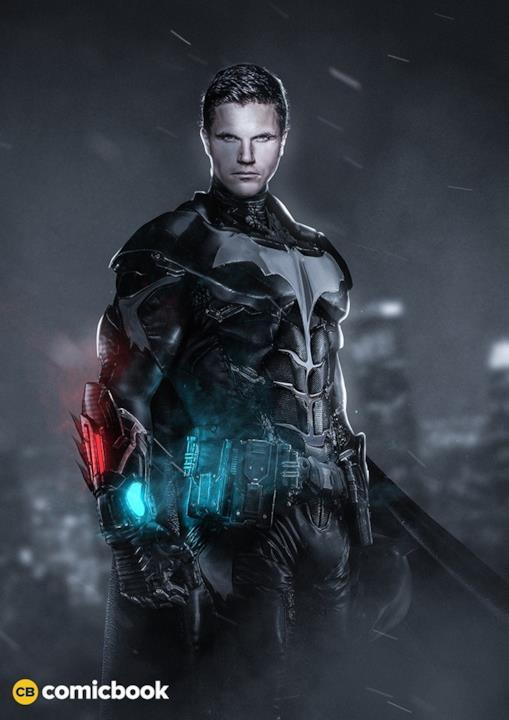 BossLogic immagina Robbie Amell col costume di Batman