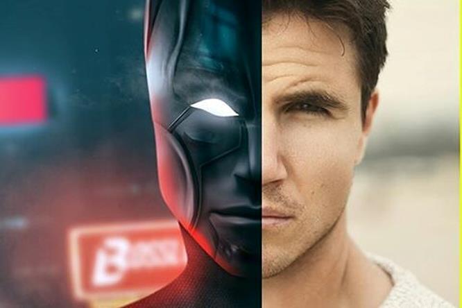 Robbie Amell nei panni di Batman