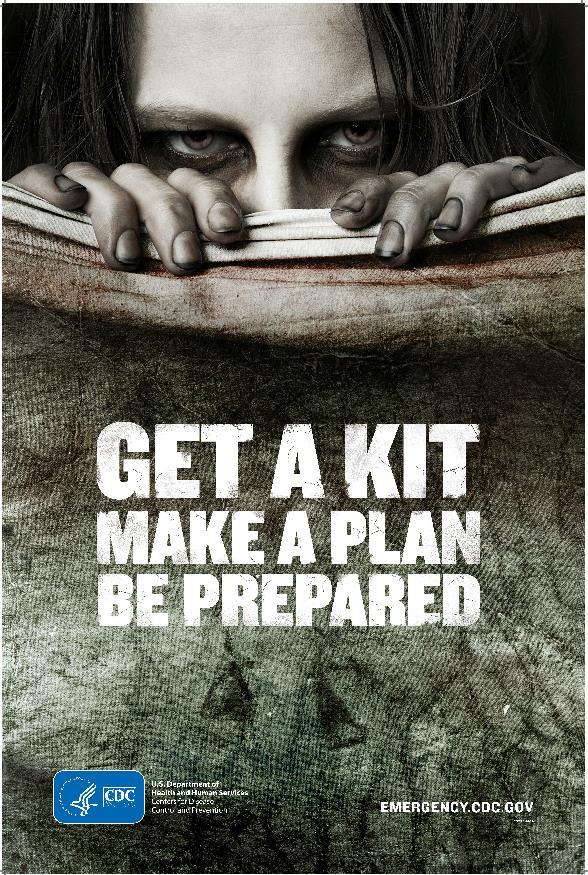 Il poster del CDC sugli zombie