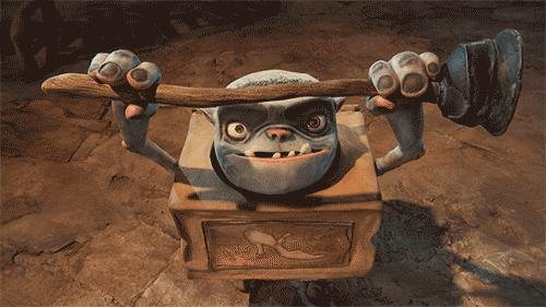 Un Boxtroll del lungometraggio animato tarhato Laika