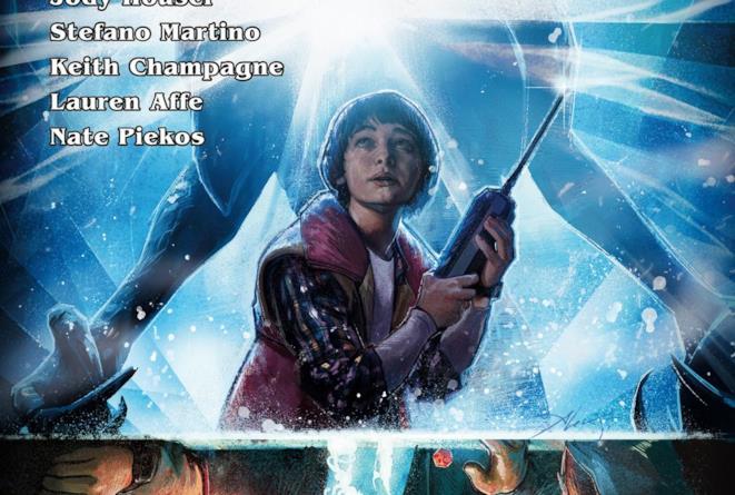La copertina del fumetto ispirato alla serie Stranger Things