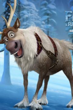 La renna Sven nel character banner di Frozen