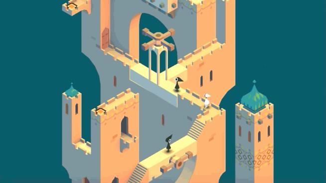 Una GIF mostra le meccaniche di Monument Valley 2