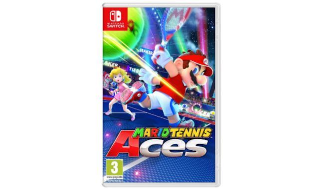 La confezione di Mario Tennis Aces