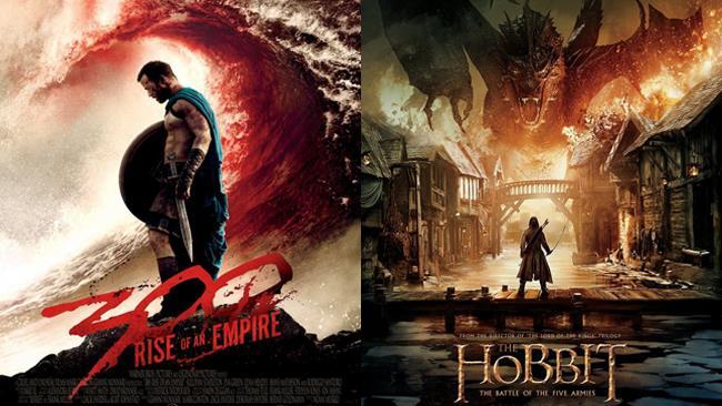 300 - L'alba di un impero e Lo Hobbit - La battaglia delle cinque armate (2014)