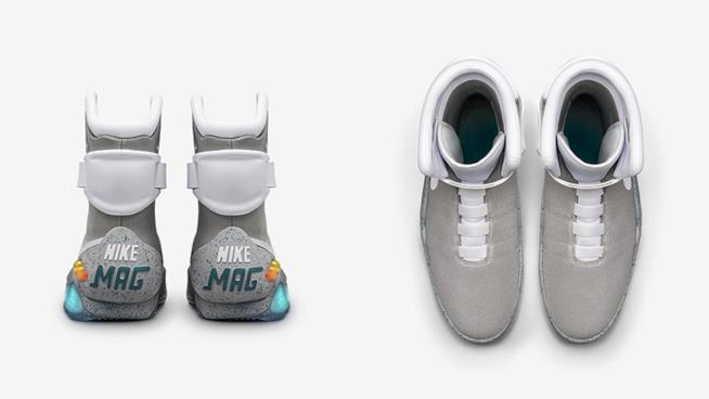 Particolare delle Nike Air Mag, le scarpe di Ritorno al Futuro 2