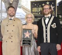 La cerimonia della stella a Gillian Anderson