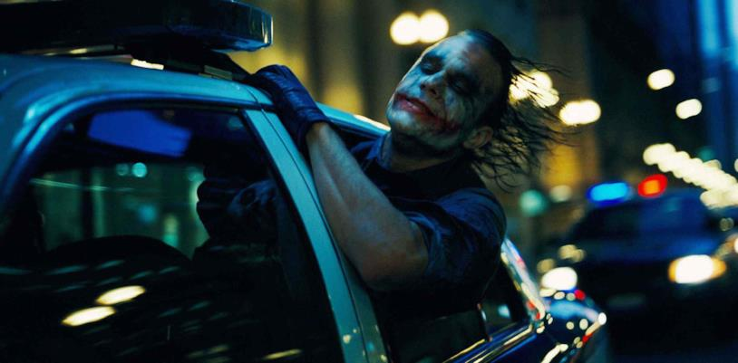 Heath Ledger nel film di Nolan
