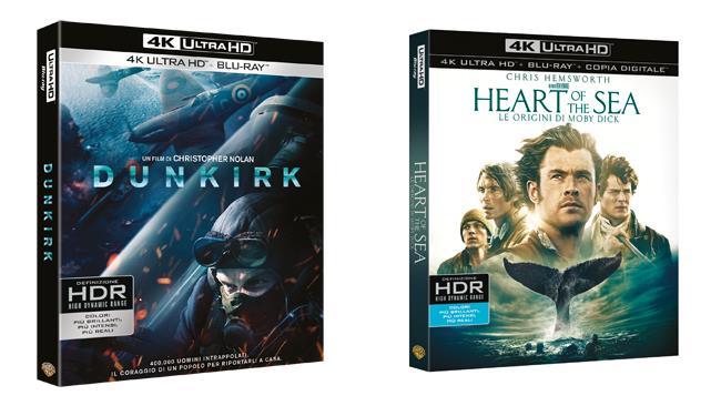 Dunkirk e Heart of the Sea – Le origini di Moby Dick in 4K