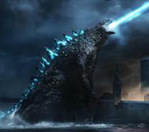 Godzilla in azione in un poster di Godzilla