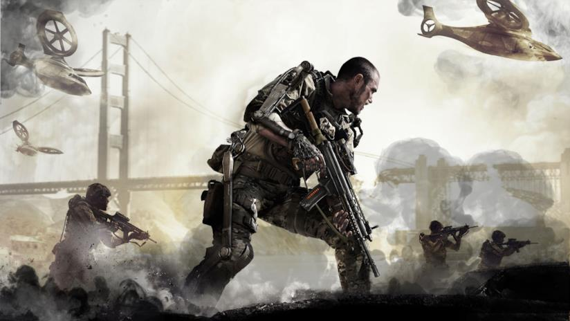 Una sequenza di guerra da Call of Duty: Advanced Warfare