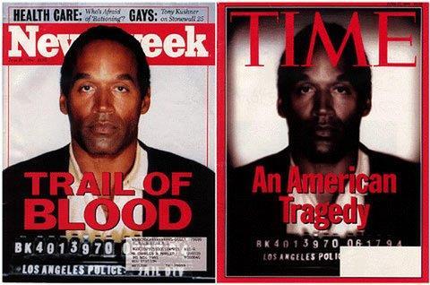 O.J. Simpson sulla copertina del Time e di Newsweek