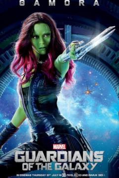 Il character poster di Gamora con la spada