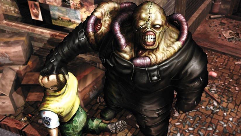 Nemesis in un poster di Resident Evil 3