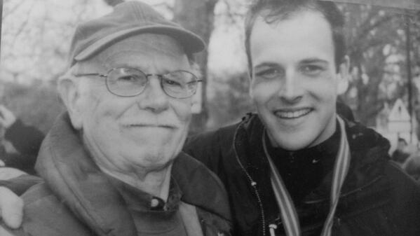 Jonny Lee Miller insieme al padre Alan