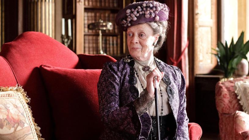 Maggie Smith nel ruolo di Lady Violet in Donwton Abbey