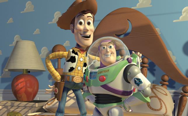 Il cowboy e l'astronauta in Toy Story