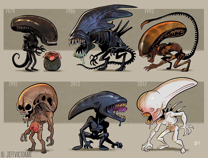 L'evoluzione delle icone della cultura pop: Xenomorfo di Alien