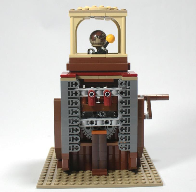 Dettagli della base del set Ornitottero di Leonardo da Vinci di LEGO