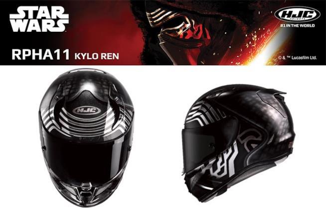 Il casco da moto per i fan del villain Kylo Ren di Star Wars: Episodio VII - Il Risveglio della Forza.