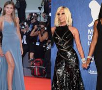 Naomi Campbell, Donatella Versace e Sistine Stallone