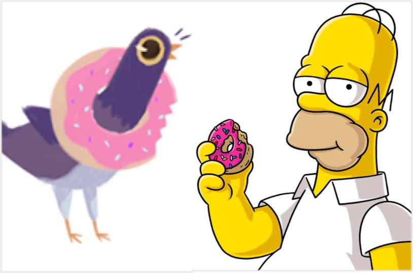 Il piccione viola e I Simpson