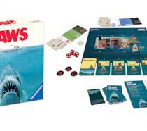 Il contenuto della scatola del gioco da tavolo Lo Squalo