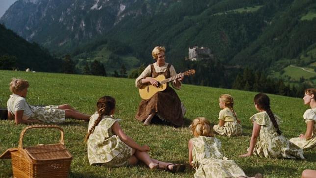 Maria e i figli del capitano Von Trapp