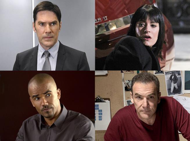 Hotch, Emily, Derek e Gideon in Criminal Minds