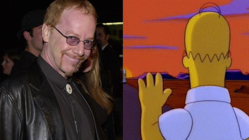 Danny Elfman e Homer Simpson in un collage