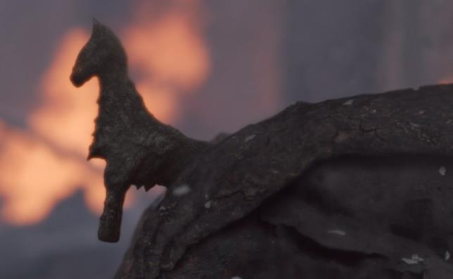 Il cavallino giocattolo della bambina in Game of Thrones 8x05