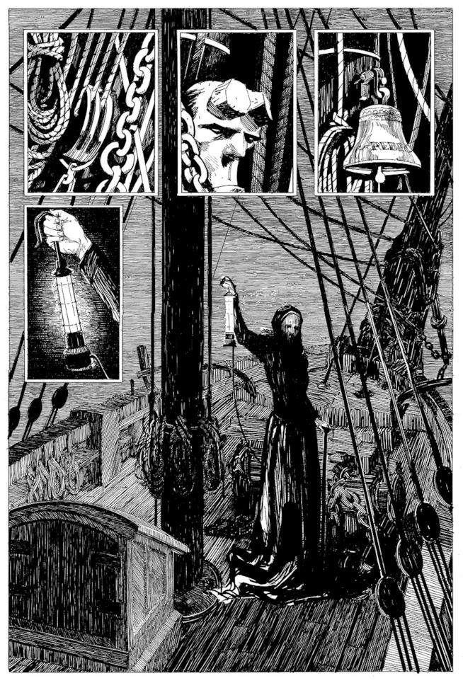 Un estratto della graphic novel di Mike Mignola