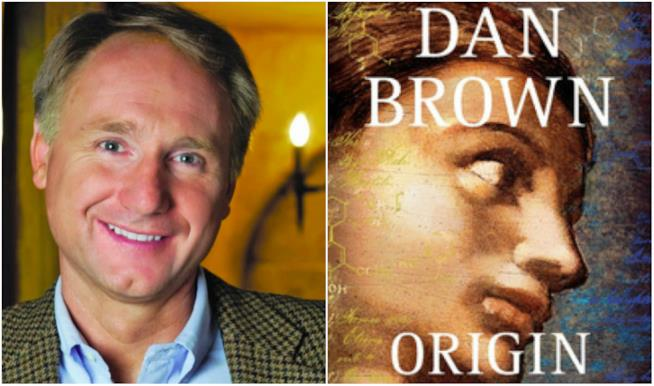 Dan Brown in un collage con Origin
