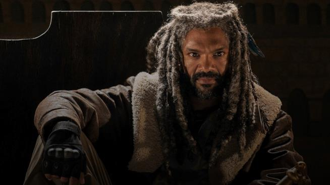 Ezekiel in una scena di The Walking Dead