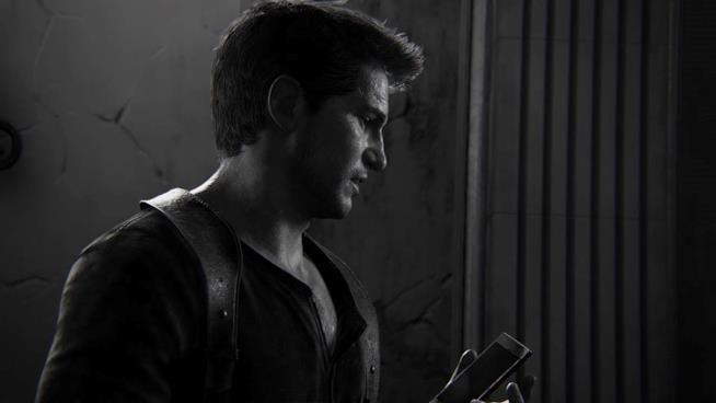Un primo piano di Nathan Drake da Uncharted 4: Fine di un ladro