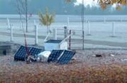 Una foto del satellite Samsung precipitato in Michigan