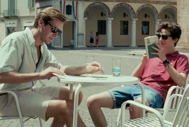 Elio e Oliver al bar