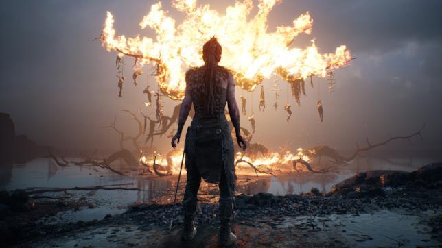 Uno screenshot da Hellblade: Senua's Sacrifice