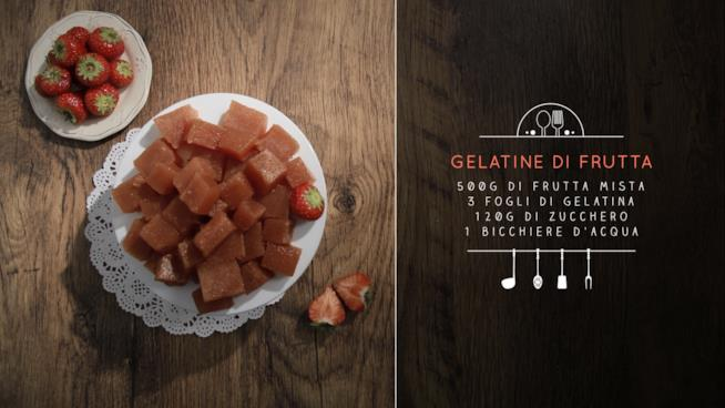 Ricetta delle gelatine di frutta
