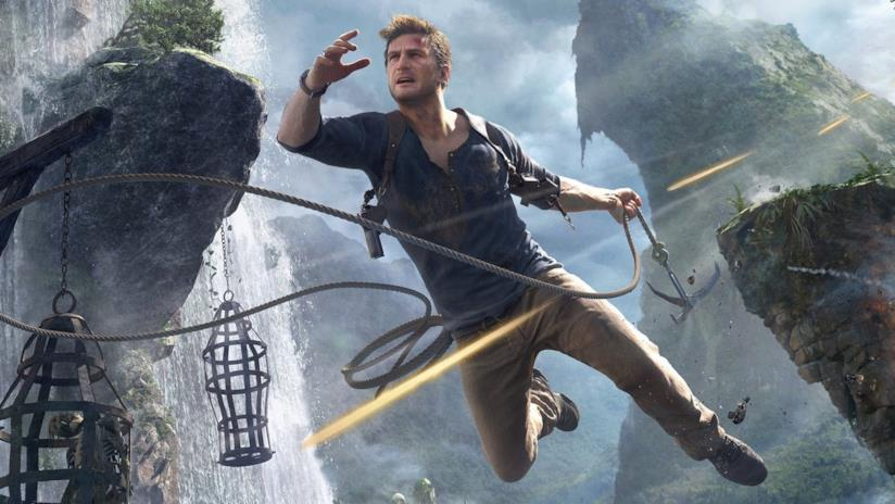 Nathan Drake in azione in Uncharted 4: Fine di un Ladro