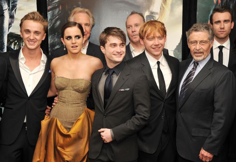 Daniel Radclife e cast all'ultima première di Harry Potter