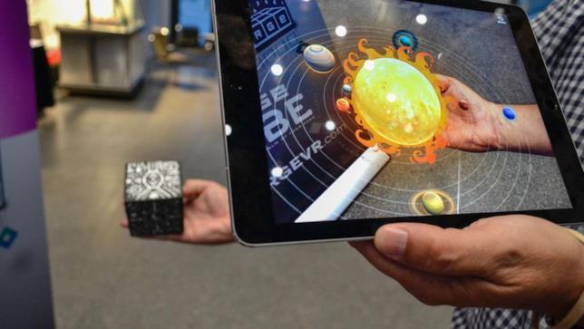 Il cubo utilizzato insieme ad iPad